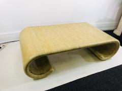 Karl Springer MODERN GRASSCLOTH SCROLL COFFEE TABLE - 1133518
