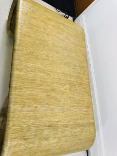 Karl Springer MODERN GRASSCLOTH SCROLL COFFEE TABLE - 1133522