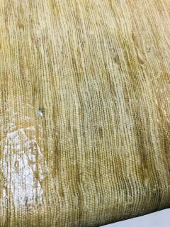 Karl Springer MODERN GRASSCLOTH SCROLL COFFEE TABLE - 1133524