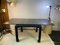 Karl Springer MODERNIST KARL SPRINGER STYLE FAUX LIZARD GAME DINING TABLE - 1801126