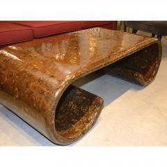 karl springer - mid century modern scroll cocktail / coffee table