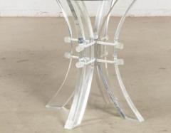 Karl Springer Modern Karl Springer Style Lucite Beveled Glass Circular Breakfast Table - 2142267