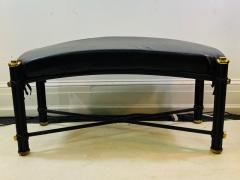 Karl Springer POST MODERN BLACK AND BRASS BENCH - 1448869