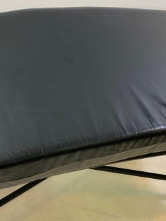 Karl Springer POST MODERN BLACK AND BRASS BENCH - 1448871