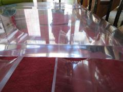 Karl Springer Pair Thick Lucite Scroll Cocktail Coffee Tables style of Karl Springer 1970s - 1697095