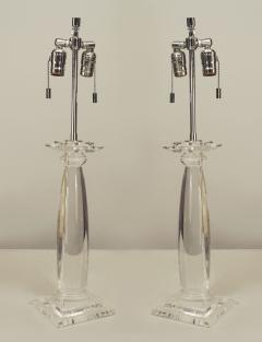 Karl Springer Pair of American 1960s Lucite Table Lamps - 466846