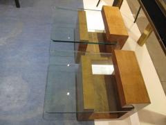Karl Springer Pair of Modernist Lacquered Parchment Side Tables by Karl Springer - 507272