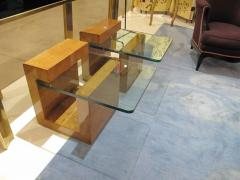 Karl Springer Pair of Modernist Lacquered Parchment Side Tables by Karl Springer - 507274