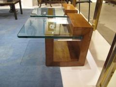 Karl Springer Pair of Modernist Lacquered Parchment Side Tables by Karl Springer - 507275
