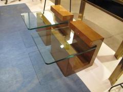 Karl Springer Pair of Modernist Lacquered Parchment Side Tables by Karl Springer - 507276