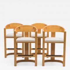 Karl Springer Set of Four Jackie O Barstools - 673970