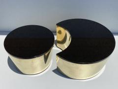 Karl Springer Set of Interlocking Brass and Granite Coffee Tables - 2066834