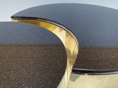 Karl Springer Set of Interlocking Brass and Granite Coffee Tables - 2066839
