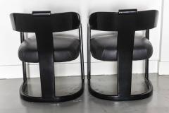 Karl Springer Set of Six American Modern Black Lacquer Ari Chairs style of Karl Springer - 61020