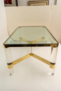 Karl Springer Signed Karl Springer Cocktail Table in Lucite and Brass - 1151315
