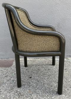 Karl Springer Signed Karl Springer Lizard Embossed Leather Table and Four Lacquered Chairs - 2066480