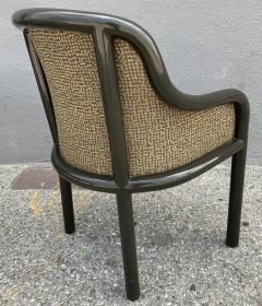 Karl Springer Signed Karl Springer Lizard Embossed Leather Table and Four Lacquered Chairs - 2066481