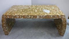 Karl Springer Tessellated Blond Horn Desk Manner of Karl Springer - 598277