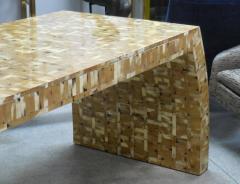 Karl Springer Tessellated Blond Horn Desk Manner of Karl Springer - 598278