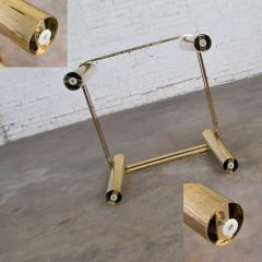 Karl Springer Vintage modern brass glass side end table w glass top style pace or springer - 1780936