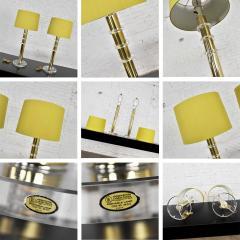 Karl Springer Vintage modern or hollywood regency lucite and brass plate lamps 2 pair - 1780981