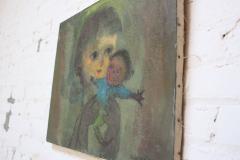 Karnig Nalbandian Blue Doll Oil on Canvas 1953 - 619849
