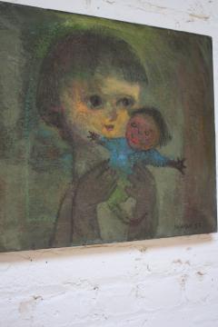Karnig Nalbandian Blue Doll Oil on Canvas 1953 - 619856