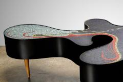 Katharina Welper One of a Kind Contemporary Mosaic Low Table by Katharina Welper Brazil 2014 - 1590359