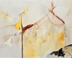 Kathi Robinson Frank Buddhas Breakfast 2021 Large Abstract Oil On Canvas by Kathi Robinson Frank - 1961810