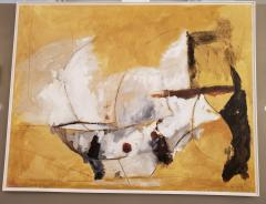Kathi Robinson Frank Mexican Sun Gold White Black Abstract Oil Painting by Kathi Robinson Frank - 1091958