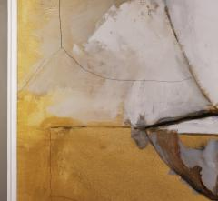 Kathi Robinson Frank Mexican Sun Gold White Black Abstract Oil Painting by Kathi Robinson Frank - 1091963