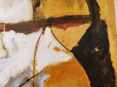 Kathi Robinson Frank Mexican Sun Gold White Black Abstract Oil Painting by Kathi Robinson Frank - 1091966