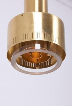 Kay Korbing Pair of Kay Korbing for Lyfa Brass and Glass Pendants Denmark 1960s - 1211110