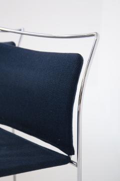 Kazuhide Takahama Set of Eight Steel and Cotton Chairs by Kazuhide Takahama - 2076776