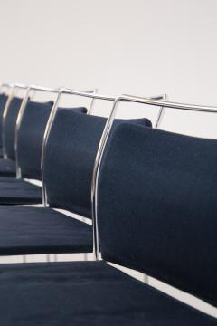 Kazuhide Takahama Set of Eight Steel and Cotton Chairs by Kazuhide Takahama - 2076778
