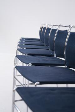 Kazuhide Takahama Set of Eight Steel and Cotton Chairs by Kazuhide Takahama - 2076779