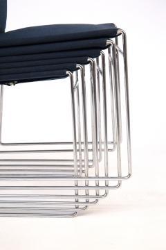 Kazuhide Takahama Set of Eight Steel and Cotton Chairs by Kazuhide Takahama - 2076782
