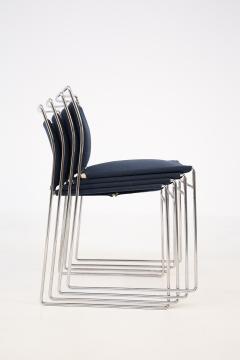 Kazuhide Takahama Set of Four Steel and Cotton Chairs by Kazuhide Takahama - 2067008
