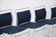 Kazuhide Takahama Set of Four Steel and Cotton Chairs by Kazuhide Takahama - 2067009