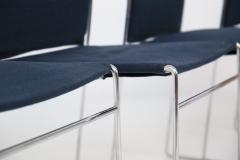 Kazuhide Takahama Set of Four Steel and Cotton Chairs by Kazuhide Takahama - 2067013