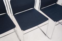 Kazuhide Takahama Set of Four Steel and Cotton Chairs by Kazuhide Takahama - 2067014