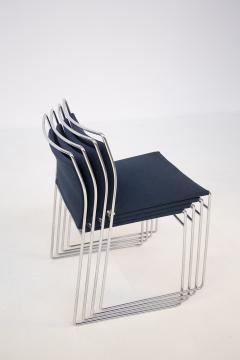 Kazuhide Takahama Set of Four Steel and Cotton Chairs by Kazuhide Takahama - 2067017