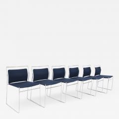Kazuhide Takahama Set of Six Steel and Cotton Chairs by Kazuhide Takahama - 2078831