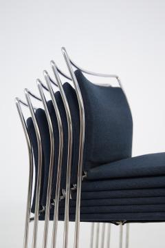 Kazuhide Takahama Set of Twelve Steel and Cotton Chairs by Kazuhide Takahama - 2077018