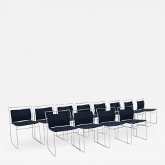 Kazuhide Takahama Set of Twelve Steel and Cotton Chairs by Kazuhide Takahama - 2078832