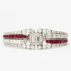 Keith Drayson Art Deco Ruby and Diamond Bracelet by Drayson - 199303