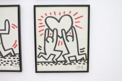 Keith Haring Complete Suite of Six Keith Haring Offset Lithographs Bayer Suite 1982 - 457588