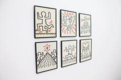 Keith Haring Complete Suite of Six Keith Haring Offset Lithographs Bayer Suite 1982 - 457589