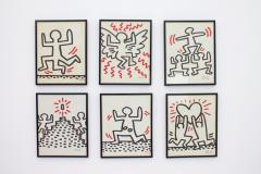 Keith Haring Complete Suite of Six Keith Haring Offset Lithographs Bayer Suite 1982 - 457591