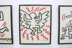Keith Haring Complete Suite of Six Keith Haring Offset Lithographs Bayer Suite 1982 - 457596